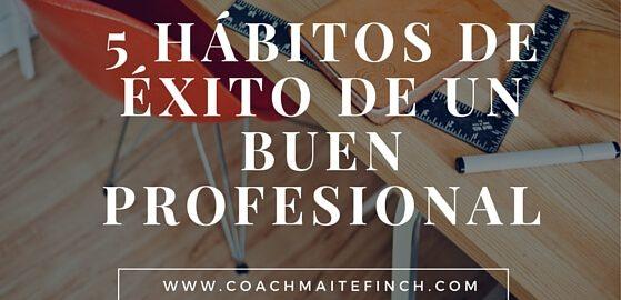 5 hábitos de éxito de un buen profesional