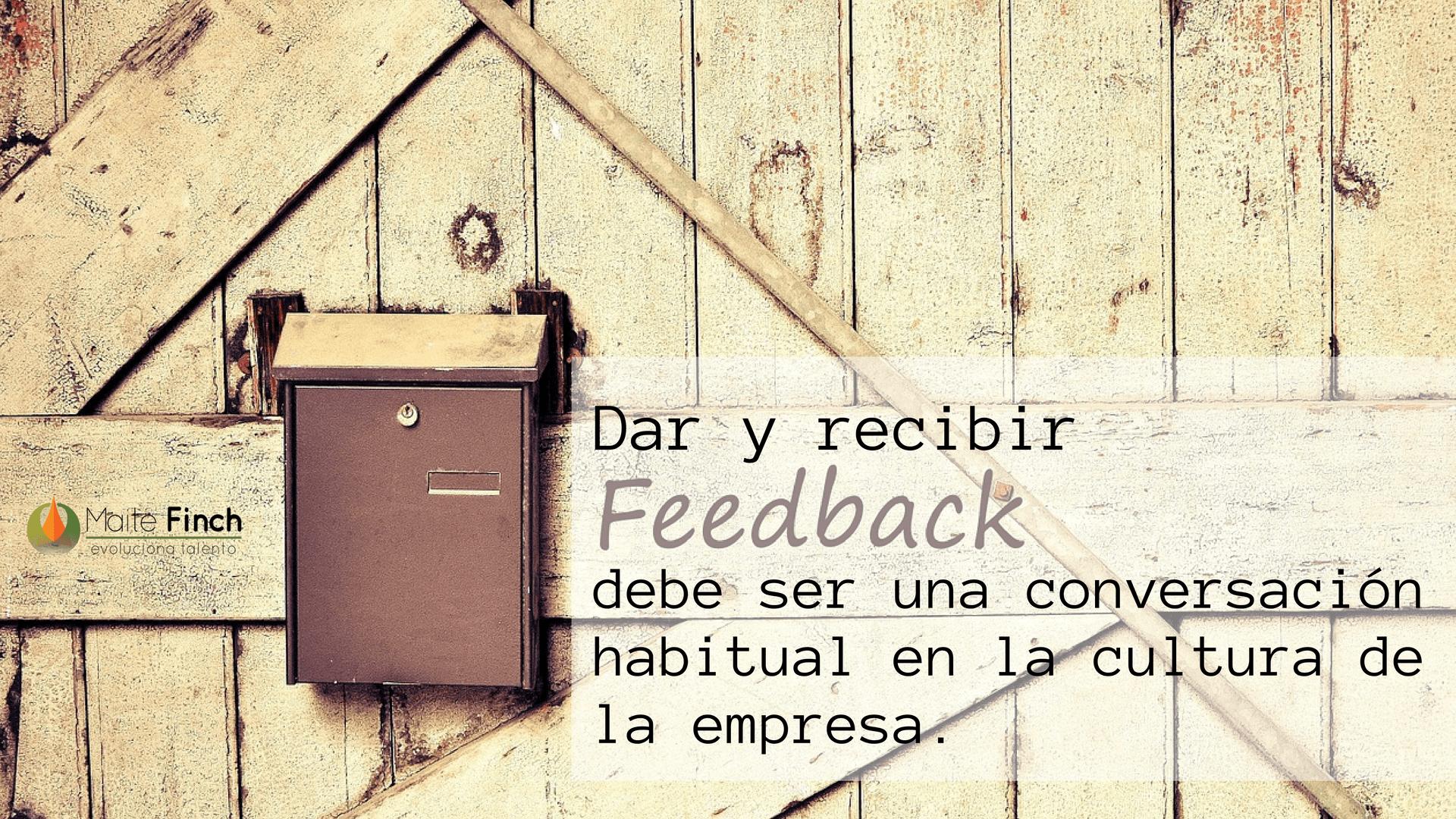 dar y recibir feedback